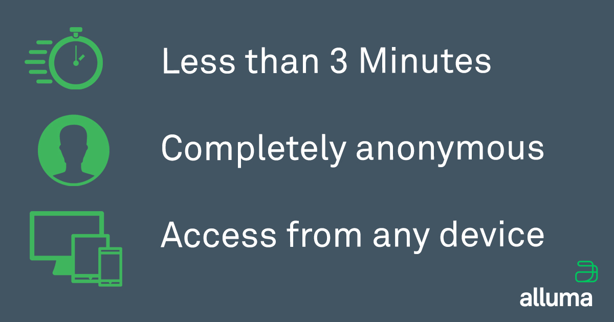 Less Than 3 Minutes | Completely Anonymous | Access from any device